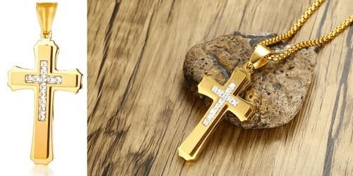 Croix Chrétienne Pendentif